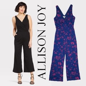 Allison Joy Clarissa Cropped Ponte Jumpsuit